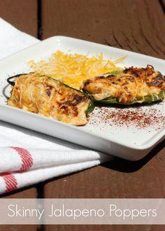 Skinny Jalapeño Poppers Recipe via @Tauni Wilson-Pigott (SNAP!)