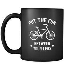 [product_style]-Cycling Put the fun between your legs 11oz Black Mug-Teelime