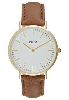 Cluse LA BOHÈME - Uhr - gold-coloured/white/brown - Zalando.de