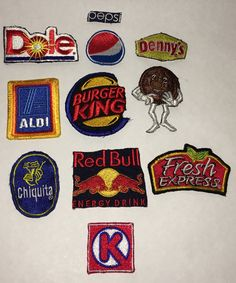 Lot of 11 Mixed Restaurant Related Patches by CoryCranksOutHats on Etsy