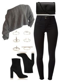 A fashion look from November 2015 featuring J Brand leggings, Gianvito Rossi ankle booties and Yves Saint Laurent shoulder bags. Browse and shop related looks. Teen Fashion Outfits, Edgy Outfits, Cute Casual Outfits, Swag Outfits, Mode Outfits, Look Fashion, Outfits For Teens, Fall Outfits, Club Fashion