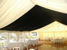 Black Starlight central marquee - #marqueehireuk #marqueehire #Notts #Derby #Leicester #weddings #corporate #events