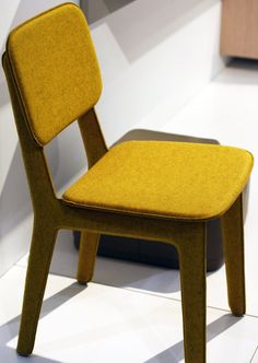 The Felt dining chair designed by Delo Lindo in 2012. Available in five colours of pure felted wool.