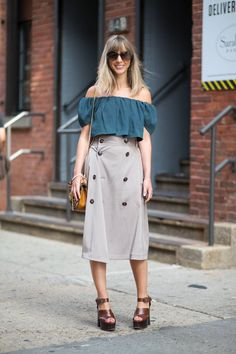 Street Style Trends Fashion Week Spring 2015 - Street Style 2015 - Harper's BAZAARI Want to Be Julia Sarr-Jamois #KerryPieri