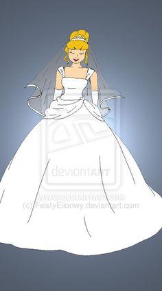 Disney Brides: Cinderella by FeistyEilonwy.deviantart.com