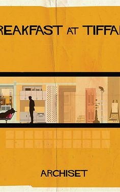 Cinephile and architect Federico Babina depicts the interiors of beloved films in his signature retro style