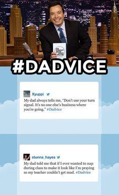 The Tonight Show starring Jimmy Fallon - Hashtags #dadvice
