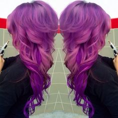 this cut is wonderful. i also wish i could pull off purple hair