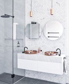 love the floor and shower tiles!