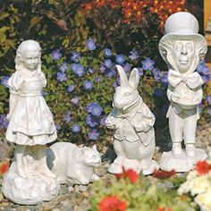 Alice In Wonderland Garden Statues Adorable