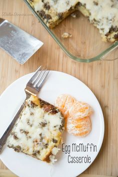 Egg McMuffin Casserole Recipe ~ skip the drive-thru and have this instead! | 5DollarDinners.com