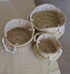 set of crochet baskets