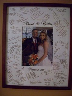 Wedding Guest book Alternative - Signature Picture Frame Customized Mat on Etsy, $24.99