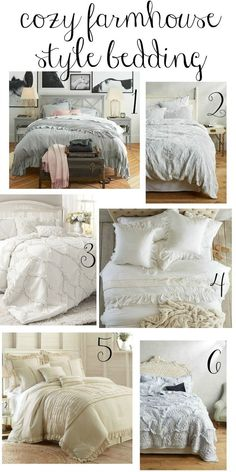 Marvelous These cozy farmhouse style bedding options are perfect choices for creating a welcoming and peaceful master bedroom retreat. The post These cozy farmhouse style bedding options are pe . Girls Bedroom, Bedroom Bed, Cozy Bedroom, Home Decor Bedroom, Modern Bedroom, Bedroom Furniture, Bedroom Ideas, Bedroom Designs, Bed Room
