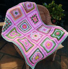 Ravelry: Maryfairy's Pink B.A.W.L. Afghans 1 & 2