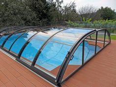 Quality retractable pool enclosures ELEGANT are made by Alukov a.s. and distributed by IPC Team all around the world