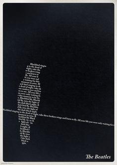 — BlackbirdThe Beatles #AdobeCaslonPro ...