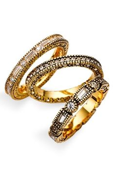 Beautiful!!!!  Ariella Collection Stacking Rings (Set of 3)   Nordstrom - StyleSays
