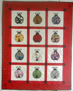 http://www.originalquilts.com/images/jordanfull.jpg...100 Good Wishes web site...I love the lady bug fabrics...creative