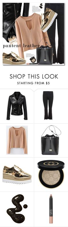 """Untitled #2459"" by svijetlana ❤ liked on Polyvore featuring Mother, Gucci, NARS Cosmetics and Salvatore Ferragamo"