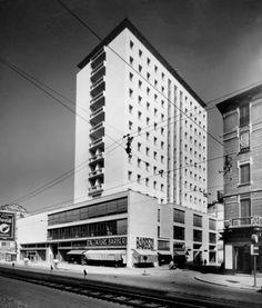 Edificio polifunzionale, 1947-1959 (Piero Bottoni con Guglielmo Ulrich, foto gentilmente concessa da Archivio Piero Bottoni)