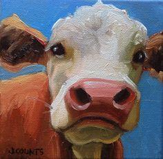 Small Canvas Art, Mini Canvas Art, Canvas 5, Farm Art, Arte Sketchbook, Art Drawings Sketches, Animal Paintings, Cow Paintings On Canvas, Painting & Drawing