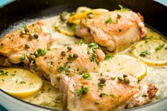 Skillet Chicken Piccata  - Use white grape juice as a substitute to the wine when you want to add sweetness, or deglaze the pan. For a punchier substitute, try mixing a tablespoon of vinegar or lemon juice per cup of grape juice. Chicken or vegetable stock - Substitute stock for white wine when you want to add depth of flavor to a dish.