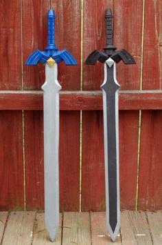 OoT Master Sword out of wood I NEED the dark link one right now! Zelda Master Sword, Zelda Sword, The Legend Of Zelda, Link Cosplay, Cosplay Diy, Christmas Presents For Boys, Zelda Birthday, Zelda Video Games, Foam Armor