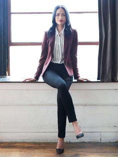 Womens-business-casual-blazer                                                                                                                                                     More