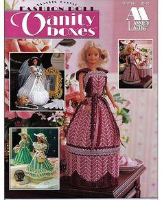 Fashion Doll Vanity Boxes Plastic Canvas Pattern Annies Attic 878706. $12.00, via Etsy.