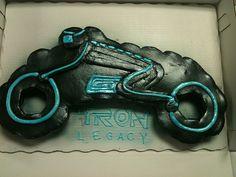 For Movie Tron Theme: Disney TRON Legacy Lightcycle Cupcake Cake