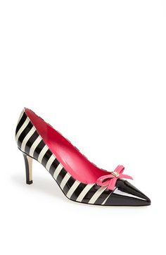 Black, white, pink. So chic indeed! kate spade new york 'jaci' pump available at #Nordstrom