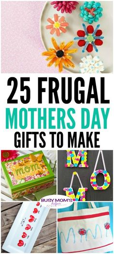 DIY Gifts : 25 Frugal Mothers Day Gifts to Make 25 Frugal Mother's Day Gifts - Busy Moms Helper Sharing is caring, don't forget to share ! Easy Homemade Gifts, Diy Gifts, Handmade Gifts, Mothers Day Crafts For Kids, Diy For Kids, Kids Crafts, Creative Crafts, Mother Day Gifts, Gifts For Mom