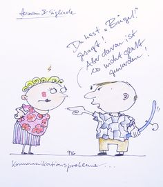 Antje Püpke . Bügel! . Cartoon . als Postkarte 2,-€