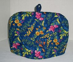 Flower Garden on Royal Blue  Quilted Dome Tea by shirleysewdesigns
