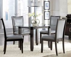 Charmant Glass, Round Dining Table