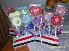 assorted chocolate lollipops