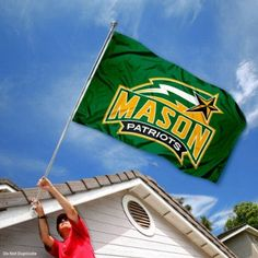 George Mason Patriots GMU University Large College Flag by College Flags and Banners Co.. $29.95. This George Mason University Flag measures 3x5 feet in size, has quadruple-stitched fly ends, is made of durable 100% Nylon, and has two metal grommets for attaching to your flagpole. The screen printed George Mason Patriots logos are Officially Licensed and Approved by George Mason University and are viewable from both sides with the opposite side being a reverse image.