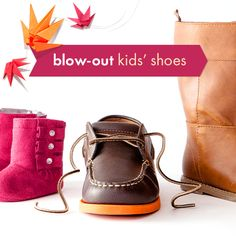 Take a look at the Fall Blow-Out: Kids' Shoes event on zulily today!