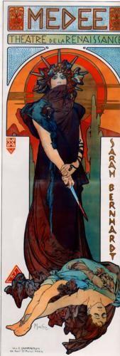 Medea by Alphonse Mucha (1898 poster for Sarah Bernhardt production)