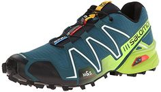 Salomon Men's Speedcross 3 Mountain Trail, Cobalt Blue/Granny Green/Black, 10.5 M US Salomon