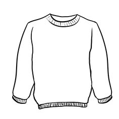 Sweater Coloring Sheet Coloring Pages | Christmas ...