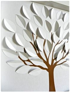 DIY PAPER CRAFT Try these simple paper craft ideas with your kids and make something unique and these are very easy to make. Be Creative Kids Crafts, Diy And Crafts, Craft Projects, Arts And Crafts, Craft Ideas, 3d Tree, Tree Art, Going Away Cards, Diy Paper
