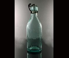 Blob Top Bottle Aqua Henry Downes The City Water Works of New York by MountainAireVintage on Etsy