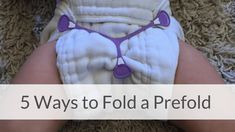 How to fold a prefold cloth diaper quickly and easily.