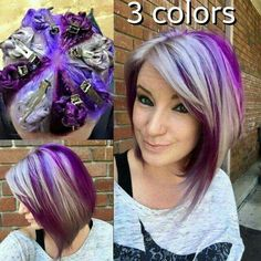 3 colors purple blue and gray