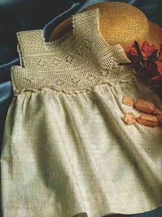 Комбинируем - вязание и ткань + free diagram pattern