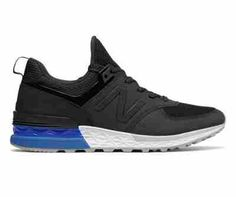 NB 574 Sport, Black with Blue