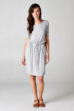 Carrie Dress in Heather Gray