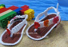 sandalias a crochet | Magia do Crochet: Sandálias em crochet para bebé